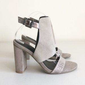 Kenneth Cole Reaction Tart Throb Taupe Heels Sz 8